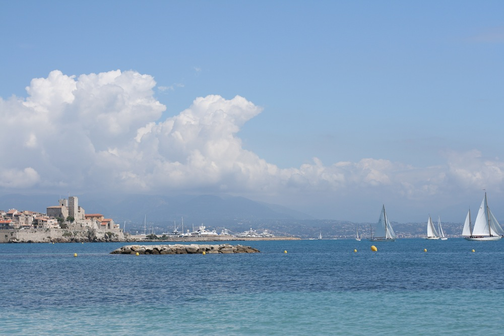 Antibes beach and old town