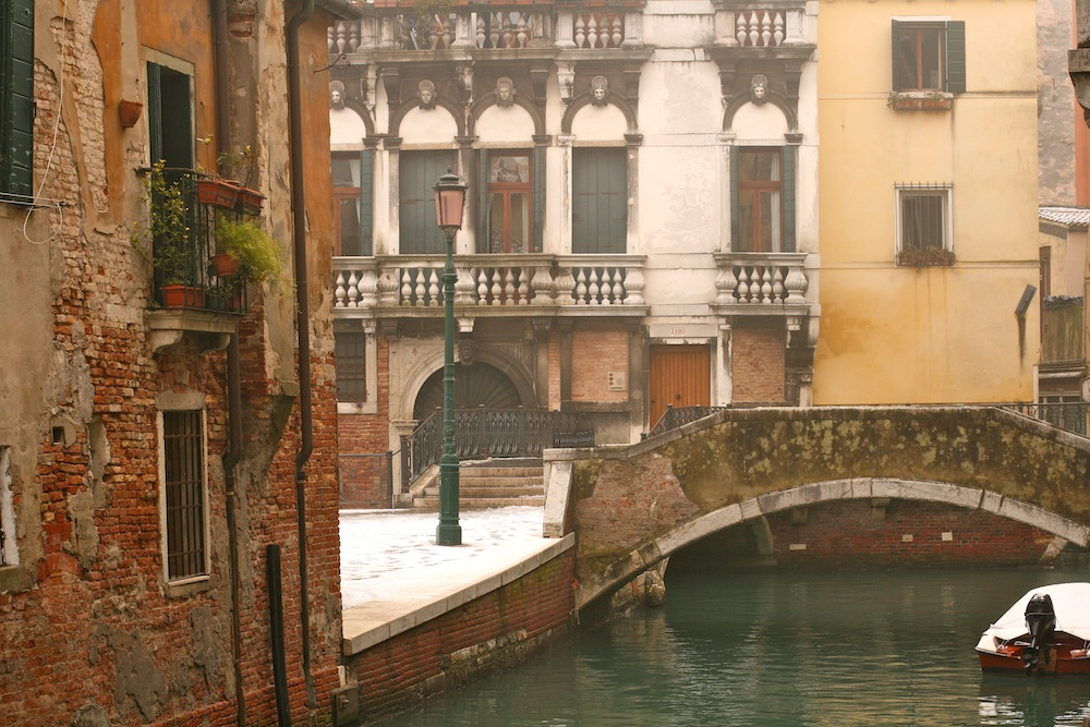 Venice snow bridge